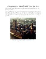Chiêm ngưỡng tháp đồng hồ vĩ đại Big Ben pps
