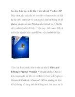 Sao lưu thiết lập và dữ liệu trước khi cài Windows XP doc