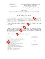 Quyết định Về việc công bố Hướng dẫn đo bóc khối lượng xây dựng công trìnhSố: 788/QĐ-BXD doc