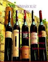 Tiểu luận QUY TRÌNH sản XUẤT rượu VANG