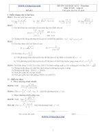 Đề ôn thi học kỳ 2 môn toán lớp 11 - Đề số 1 pps