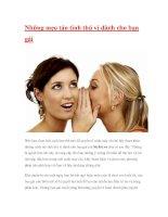 Những mẹo tán tỉnh thú vị dành cho bạn gái pps