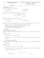 Đề ôn thi học kỳ 2 môn toán lớp 11 - Đề số 30 ppsx