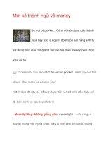Một số thành ngữ về money docx