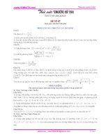 Đề thi môn toán - đề số 7 toán tuổi trẻ ppt