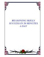 REASONING SKILLS SUCCESS IN 20 MINUTES A DAY docx
