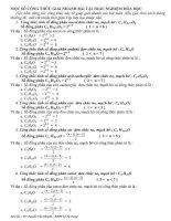 Một số công thức giải nhanh bài tập trắc nghiệm hóa học potx