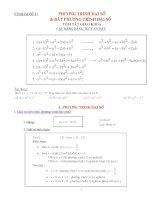 Chuyên đề ôn thi đại học môn toán - Phương trình đại số, bất phương trình đại số doc