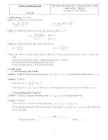 Đề ôn thi học kỳ 2 môn toán lớp 11 - Đề số 26 potx
