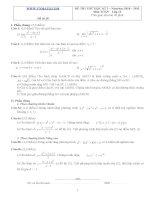 Đề ôn thi học kỳ 2 môn toán lớp 11 - Đề số 28 ppt