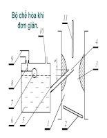 Bộ chế hòa khí đơn giản pdf