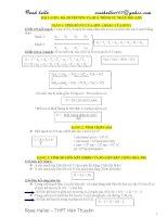 Công thức giải nhanh và kiến thức trọng tâm sinh học 12