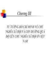 Chương III: TƯ TƯỞNG HỒ CHÍ MINH VỀ CHỦ NGHĨA XÃ HỘI VÀ CON ĐƯỜNG QUÁ ĐỘ LÊN CHỦ NGHĨA XÃ HỘI Ở VIỆT NAM doc
