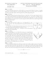 ĐỀ THI TUYỂN SINH LỚP 10 MÔN VẬT LÝ pdf