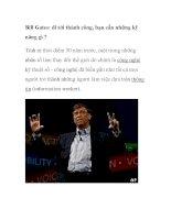 Bill Gates: đi tới thành công, bạn cần những kỹ năng gì ? potx