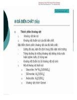 [Slide Bài Giảng Địa Chất Học] Cấu Tạo Địa Chất - Pgs.Ts.Phạm Hữu Sy phần 10 pps