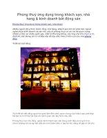 Phong thuỷ ứng dụng trong khách sạn, nhà hang & kinh doanh bất động sản potx