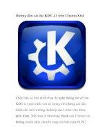Hướng dẫn cài đặt KDE 4.1 trên Ubuntu 8.04 pot