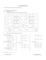 lý thuyết và bài tập toán lớp 11 học kỳ i