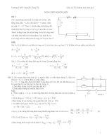 bài tập vật lý hay và bài giải vật lý 12 bồi dưỡng học sinh ôn thi đại học