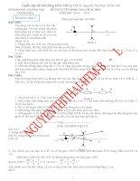Tuyển tập đề thi học sinh giỏi vật lý