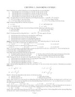 Bài tập trắc nghiệm vật lý lớp 12