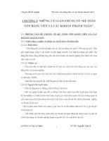 Kế toán vốn bằng tiền và các khoản thanh toán tại doanh nghiệp thủy sản Đắc Lộc