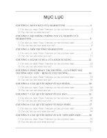 Bộ đề thi trắc nghiệm môn học quản trị marketing