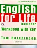 English for life  Beginner  workbook