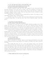 Các chủ đề nói, viết rất hay thường gặp trong các cuộc thi chứng chỉ và thi tiếng Anh B1