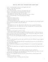 868 câu hỏi và đáp án trắc nghiệm triết học