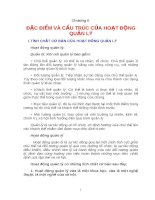 QUẢN TRỊ DOANH NGHIỆP - ĐẶC ĐIỂM VÀ CẤU TRÚC CỦA HOẠT ĐỘNG QUẢN LÝ docx