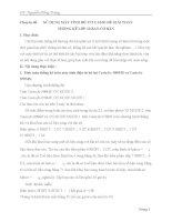 Chuyên đề: SỬ DỤNG MÁY TÍNH BỎ TÚI CASIO ĐỂ GIẢI TOÁN THỐNG KÊ LỚP 10 BAN CƠ BẢN ppt
