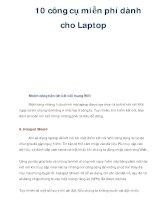 10 công cụ miễn phí dành cho Laptop ppt