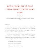 """ĐỀ TÀI """"ĐÁNH GIÁ VỀ CHẤT LƯỢNG DỊCH VỤ TRONG MẠNG VOIP"""" CHƯƠNG III_2 ppt"""