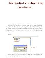 Cách tạo lệnh mở nhanh ứng dụng trong pdf