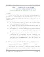 Chương 6 NGHIỆM GẦN ĐÚNG CỦA HỆ PHƯƠNG TRÌNH VI PHÂN THƯỜNG doc