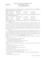 ĐỀ ÔN LUYỆN THI TỐT NGHIỆP THPT MÔN TIẾNG ANH 12 - ĐỀ SỐ 26 doc