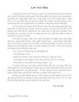 Giáo trình CÔNG NGHỆ DNA TÁI TỔ HỢP - Chương 1 ppsx