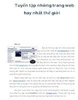 Tuyển tập những trang web hay nhất thế giới docx
