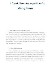 10 sai lầm của người mới dùng Linux docx