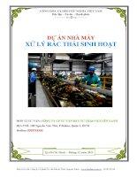 Dự án nhà máy xử lý rác thải sinh hoạt,