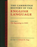The Cambridge History of the English Language Volume 1 Part 1 ppt