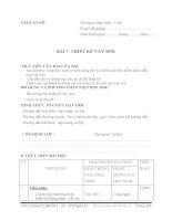 GIÁO ÁN THIẾT KẾ ÁO SƠ MI, QUẦN ÂU, VÁY - BÀI 7 pdf