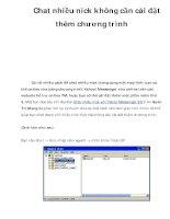 Chat nhiều nick không cần cài đặt thêm chương trình pdf