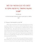 """ĐỀ TÀI """"ĐÁNH GIÁ VỀ CHẤT LƯỢNG DỊCH VỤ TRONG MẠNG VOIP"""" CHƯƠNG III_1 pdf"""