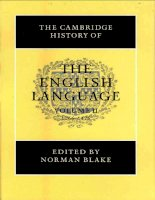 The Cambridge History of the English Language Volume 2 part 1 pdf