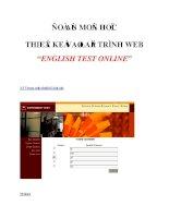 """ĐỒ ÁN MMON HỌC THIẾT KẾ VÀ LẬP TRÌNH WEB""""ENGLISH TEST ONLINE""""_2 docx"""