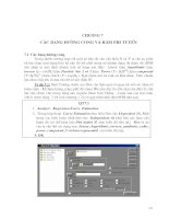 Khai thác và sử dụng SPSS để xử lý số liệu nghiên cứu trong lâm nghiệp - Chương 7 ppsx