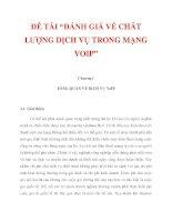 """ĐỀ TÀI """"ĐÁNH GIÁ VỀ CHẤT LƯỢNG DỊCH VỤ TRONG MẠNG VOIP"""" CHƯƠNG I_1 ppt"""